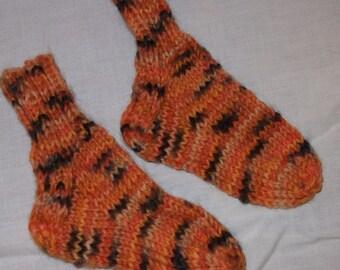 Tiger Newborn  Knitted Washable Wool Socks