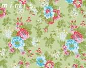 DELILAH  in Green / Tanya Whelan Fabric -- 1 Yard  Cotton Quilt Apparel Fabric