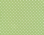 Tanya Whelan Fabric /  Delilah / DOTS in GREEN - 1 Yard Quilt Fabric