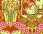 Amy Butler Fabric / FUCHSIA TREE in CARMINE / Soul Blossoms /  1 Yard Quilt Fabric
