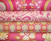Dena Designs Fabric / KUMARI GARDEN / 4 Half Yard Bundle - Cotton Quilt Fabric