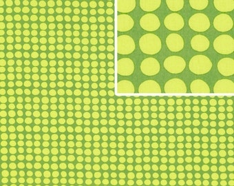 Amy Butler Fabric / LOVE Collection / Sunspots in OLIVE,,,1/2 yd Quilt Fabric
