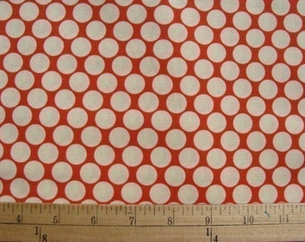 1/2 yd Amy Butler Full Moon Dots in Cherry Red,,,Quilt and Apparel Fabric Lotus