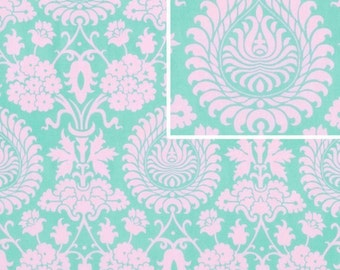 Amy Butler Fabric / Bali Gate in Pink / Love Fabric / 1  Yd Cotton Fabric