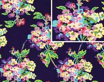 Amy Butler LOVE Water Bouquet in Midnight,,1 Yd Quilt Apparel Fabric