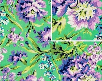 Amy Butler LOVE Fabric / Bliss Bouquet in Emerald,,,,1yd Quilt Apparel Fabric