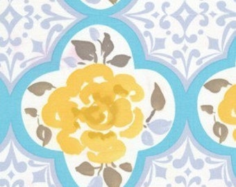 LAST 3/4 yd Ming in Blue /  Tea Garden Fabric  by Dena Designs  / Cotton Quilt  Apparel Fabric