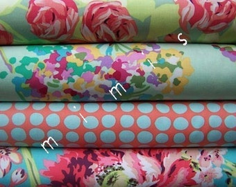 Amy Butler Fabric /  LOVE Collection /  4 Half Yard Bundle Cotton Quilt Fabric