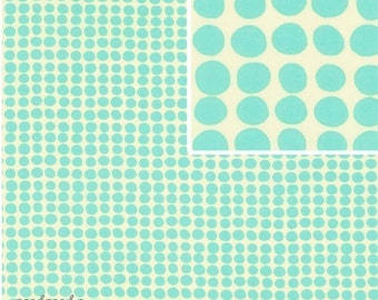 Amy Butler LOVE Fabric /   Sunspots in Turquoise ,,1/2  yd Quilt Fabric,,,,,