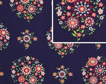 Amy Butler Fabric /  Memento in Midnight / Love Fabric / 1 yd Cotton  Quilt Fabric