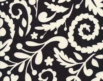 SALE - Dena Designs Fabric /  McKenzie / SILHOUETTE  in BLACK - 1 Yard Quilt Fabric