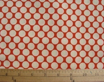 1 yd Amy Butler Fabric / Full Moon Dots in Cherry Red / Quilt and Apparel Fabric Lotus