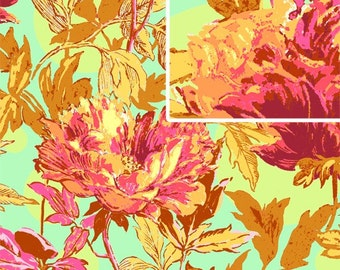 Soul Blossoms by Amy Butler TWILIGHT PEONY in SAFFRON 1 Yard Quilt Fabric