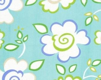 Dena Designs Fabric /  KUMARI GARDEN /  Sachi in Blue - 1 Yard Quilt Fashion Fabric
