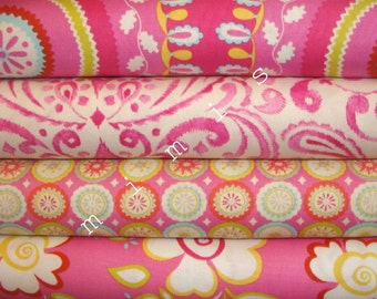 Dena Designs Fabric / KUMARI GARDEN / 4 Half Yard Bundle - Cotton Quilt Fabric