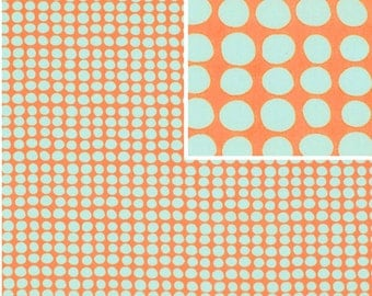 Amy Butler LOVE Fabric / Sunspots in Tangerine /  1 Yard Cotton Quilt Fabric