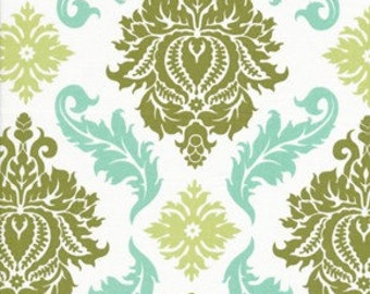 AVIARY 2 Collection / Damask  in Dill /  Joel Dewberry /  Cotton Quilt Fabric 1 yard
