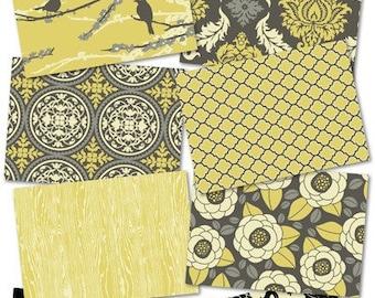 Joel Dewberry Fabric /  Granite Palette / AVIARY 2 / Cotton Quilt /Apparel Fabric / 8 Half Yard Pack