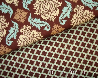 Damask in Bark Lodge Lattice in Caramel  by Joel Dewberry / AVIARY 2 /  Cotton Quilt Fabric 1 yard