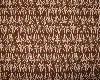 Stamen in Brown 1 yard Joel Dewberry Fabric / Aviary 1 Collection / Cotton Quilt Fabric