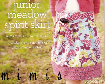 SHIPS FREE! Meadow Spirit Skirt by Joel Dewberry / JD002MJ / Girls Size 4-16  Ships Free with Fabric Purchase