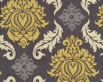 Damask  in Granite by Joel Dewberry / AVIARY 2 /  Cotton Quilt Fabric 1 yard