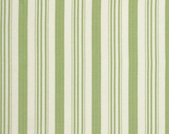 Barefoot Roses by Tanya Whelan / Ticking Stripe in Green / 1 Yard Quilt Apparel Fabric