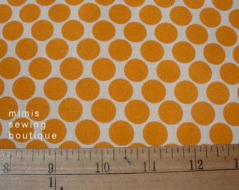 Amy Butler Fabric / Full Moon Dots in Tangerine / 1 Yard Cotton Quilt Fabric