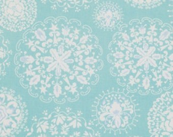 1/2 yd Jada in Aqua / Pretty Little Things  by Dena Designs - Cotton Quilt Fashion Fabric Out of Print  / Discontinued