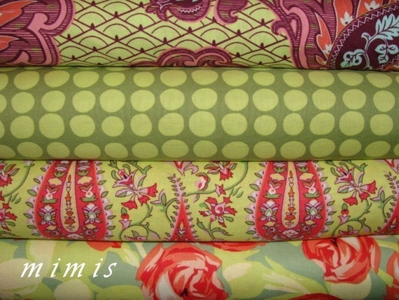 Amy Butler Fabric / Love Fabric Bundle /  4 Fat Quarter Bundle