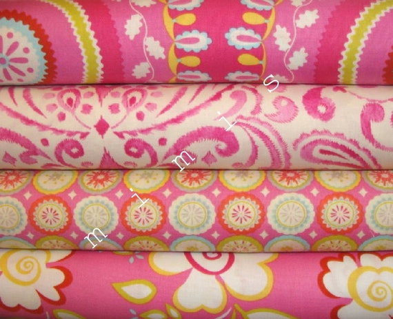 Dena designs fabric kumari garden 4 half yard bundle for Kumari garden fabric by dena designs