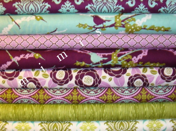 YARD Bundle / AVIARY 2 Collection / Joel Dewberry Fabric /  Cotton Quilt Fabric