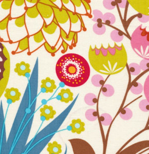 LAST 3/4  YARD / Summer Totem in Tart /  LouLouthi Fabric /  - Anna Maria Horner -   Cotton Quilt Fabric