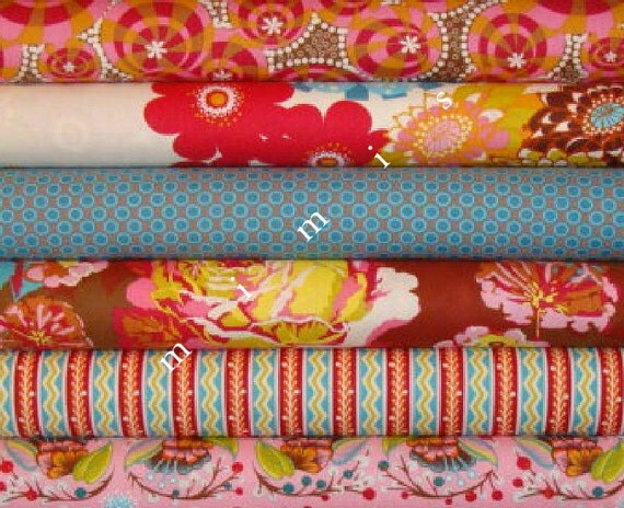 LouLouThi Fabric  / Anna Maria Horner Fabric  / TART 6 Fat Quarter Bundle / Cotton Quilt Fabric