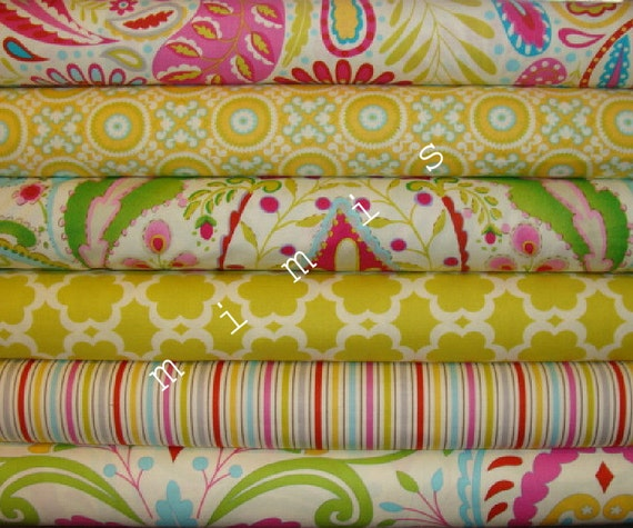 Dena Designs Fabric /  KUMARI GARDEN /  6 Half Yard Bundle -  Cotton Quilt Fabric