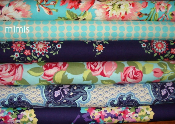 Amy Butler Fabric / Love Collection /  6 Half Yard Bundle / Cotton Quilt Fabric