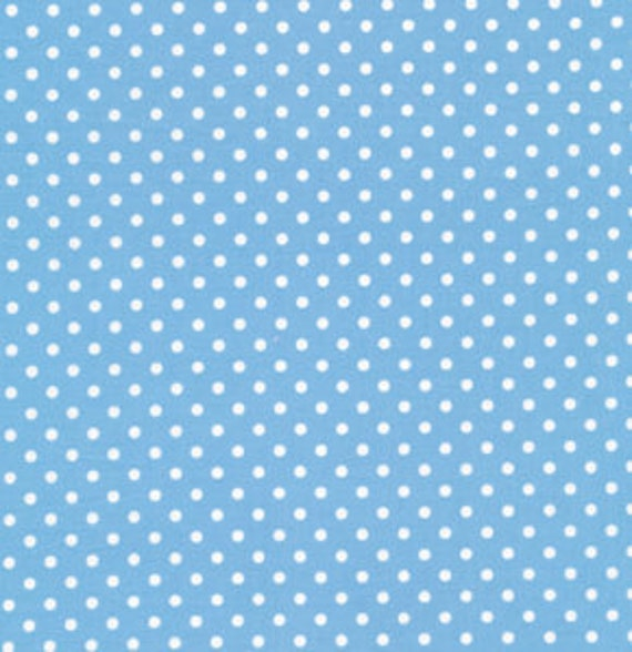 Dots in Blue / DELILAH Fabric by Tanya Whelan /1 Yard Quilt Fabric