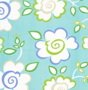Dena designs fabric kumari garden sachi in blue 1 by mimis for Kumari garden fabric by dena designs