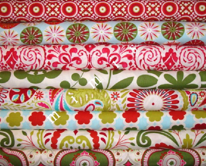 Sale dena designs fabric kumari garden holiday by mimis for Kumari garden fabric by dena designs