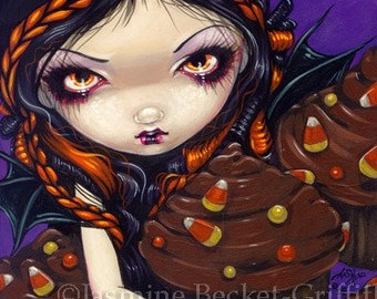 Halloween Cupcakes gothic fantasy fairy cupcake art print by Jasmine Becket-Griffith 8x10