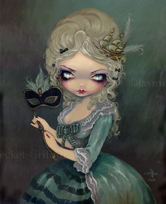 Marie Antoinette Masquerade gothic fantasy Rococo fairy art print by Jasmine Becket-Griffith 8x10