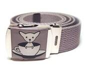 Teacup Chihuahua Belt Gray