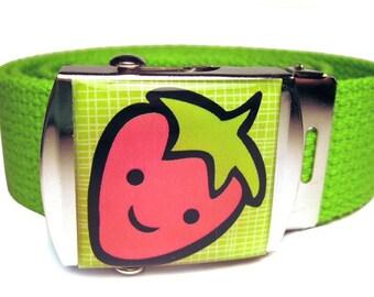 Happy Strawberry Canvas Belt
