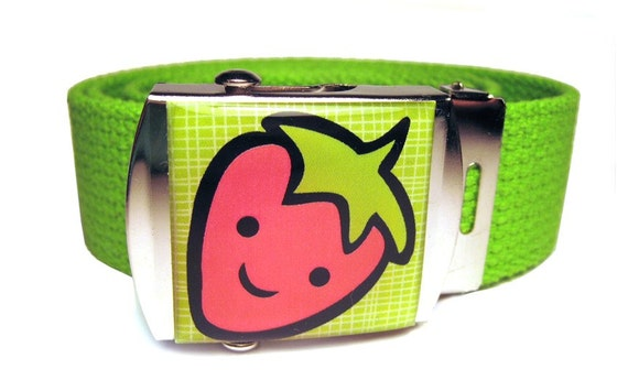 Happy Strawberry Canvas Belt