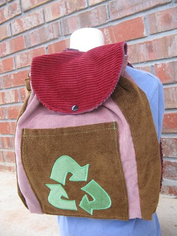 Toddler Sized Backpack -- RECYCLE SYMBOL