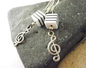 Earrings, Handmade Jewelry,  beaded earrings - Notes