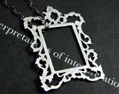 picture frame pendant - rectangle