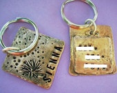 Puppy Kisses and Wishes - hand stamped antiqued copper pet id tag - custom personalized for your furry friend - cat or dog