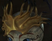 Gold Spiney Head Piece, thorny spikey armor, dragon rider costume accessory