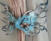 Sea elemental, leather mask by faerywhere